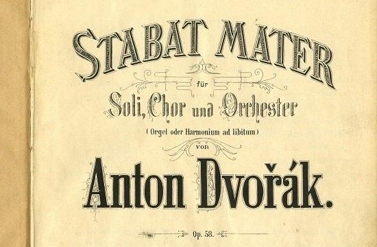 První tištěné vydání klavírního výtahu Stabat Mater, titulní strana