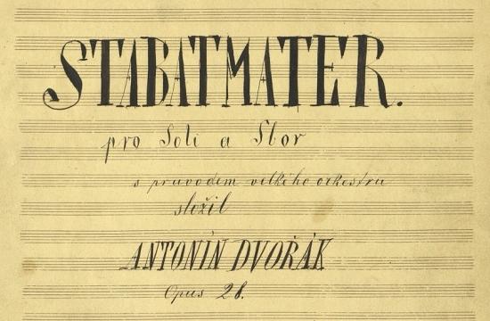 Titulní strana autografní partitury Stabat Mater