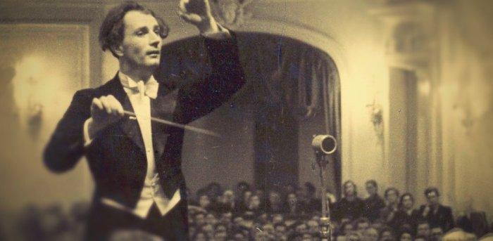 Rafael Kubelík řídí Českou filharmonii